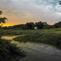 Sugar River Sunset Landscape