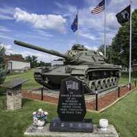 Tank at Veterans Memorial in Brodhead, Wisconsin
