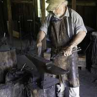 Blacksmith working on the Anvil