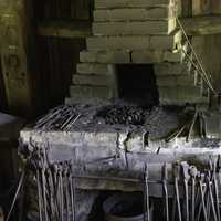 Tools on the Forge at the Blacksmith