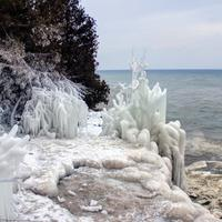Ice structures at Whitefish Dunes State Park, Wisconsin