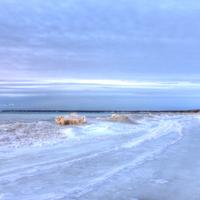 Icy shore at Whitefish Dunes State Park, Wisconsin