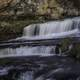 Close up of cascading water at Willow River Falls