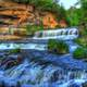 Scenic Waterfalls at Willow River State Park, Wisconsin