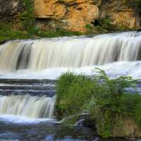 Waterfalls at Willow River at Willow River State Park, Wisconsin