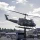 Helicopter on display at Army Duck Tours