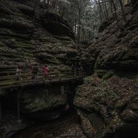 On the Walkway to Witches Gulch at Wisconsin Dells