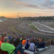 Racetrack of Wisconsin Dells at Dusk