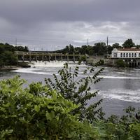 Wisconsin Dells Dam on the River
