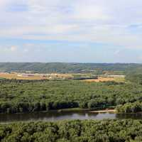 Looking at Prairie Du Chien at Wyalusing State Park, Wisconsin