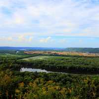 Looking over and Prairie Du Chien at Wyalusing State Park, Wisconsin