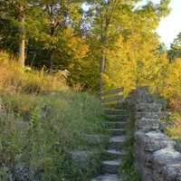 Steps to the Balcony at Wyalusing State Park, Wisconsin