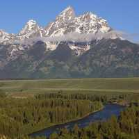 Grand Tetons and Snake River landscape in Wyoming