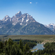 Grand Tetons beyond Snake River