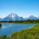 Grand Tetons Mountains landscape across the river
