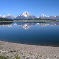 Jackson Lake Landscape in Grand Teton National Park, Wyoming