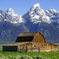 John Moulton Barn and Teton Range in Grand Teton National Park, Wyoming