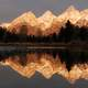 Landscape and reflections at Grand Teton National Park, Wyoming