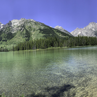 Mountains and Lake landscape in Grand Teton National Park