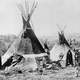 Shoshone Camp in Grand Teton National Park in 1870s, Wyoming