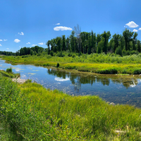 Snake River Bend Landscape at Grand Tetons National Park