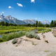 Snake River Hiking Path landscape with mountains