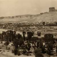1919 panoramic view of Green River, Wyoming