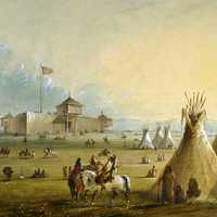 Fort Laramie as it looked prior to 1840 in Torrington, Wyoming
