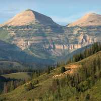Gros Ventre Range Scenic Mountain Landscape in Wyoming