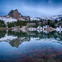 Lake Blanche Reflection landscape in Wyoming