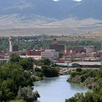 Overview of downtown Casper, Wyoming