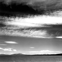 Black and White Photo at Yellowstone Lake, Wyoming