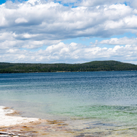 Clear Blue Waters at Yellowstone Lake