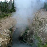 Dragon's Mouth in the Mud Volcano Area, Yellowstone National Park, Wyoming