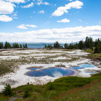 Geyser Basin by Yellowstone Lake
