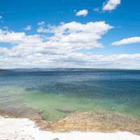 Lake Yellowstone Seascape under skies