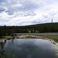 Large Hot Spring at Yellowstone National Park
