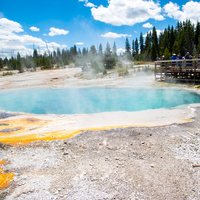 Large Hot Spring basin landscape