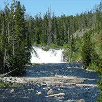 Lewis Falls in Yellowstone National Park, Wyoming