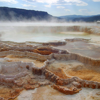 Mammoth Springs in Yellowstone National Park, Wyoming