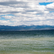 Mountains landscape beyond Yellowstone Lake