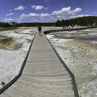 Panoramic Boardwalk view at Norris Basin