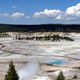 Porcelain Basin, Norris Area landscape in Yellowstone National Park, Wyoming