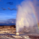 Rainbow over the Geyser in Yellowstone National Park, Wyoming