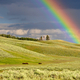 Rainbow over the Yellowstone Landscape, Wyoming