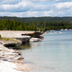 Rocky shoreline of Yellowstone Lake