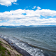 Shoreline and waves at Yellowstone Lake
