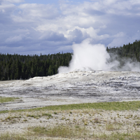 Small Eruption coming from Old Faithful