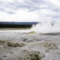 Small Geothermal Spring Eruption