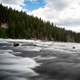 Smooth flowing rapids on the Yellowstone River